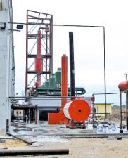 Дистилляционная установка, для переработки масел и нефтепродуктов LY 10