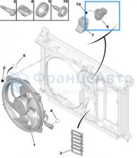 Блок управления вентилятором охлаждения C4/307/308/Типи ( СИНИЙ СМОТРИ ФИШКУ: ОДИНАКОВЫЕ ГЛАВНОЕ ФИШКА) (1308CP/9673999980)