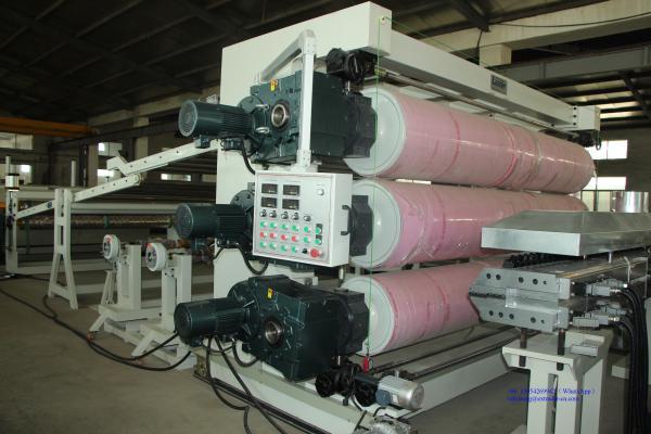 Экструзионная линия для производства листов геомембраны 3-8м.