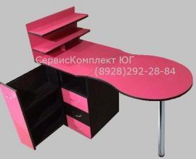 Маникюрный стол с выдвижным вертикальным ящиком