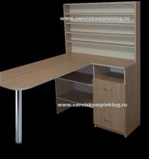 Маникюрный стол с ящиками и полкой